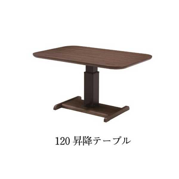 120昇降テーブル サラ SALA 120cm食堂テーブル 食卓 上下昇降タイプ ガス圧昇降式 リビングダイニング ソファーダイニング シギヤマ 【送料無料】
