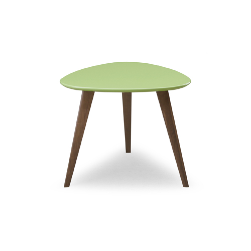 YR-019 GREEN グリーン COFFEE TABLE 60 ウォールナット WAL コーヒーテーブル60 60cm幅 センターテーブル リビングテーブル 三角形 岩倉榮利 シギヤマ 【送料無料】