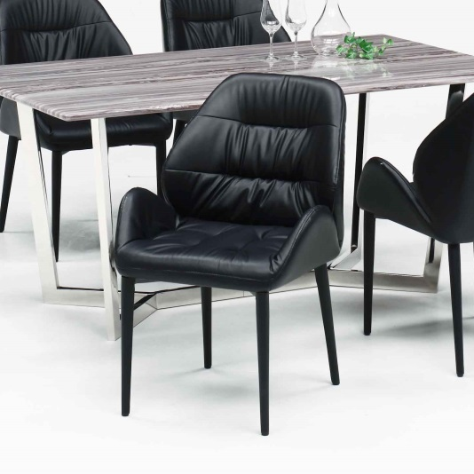 F244 BK BE ジュピター ダイニングチェアー JUPITER 食堂イス いす 椅子 レザー 合皮 シンプル モダンタイプ 洋風 北欧風 清美堂 WEST POINT 【送料無料】