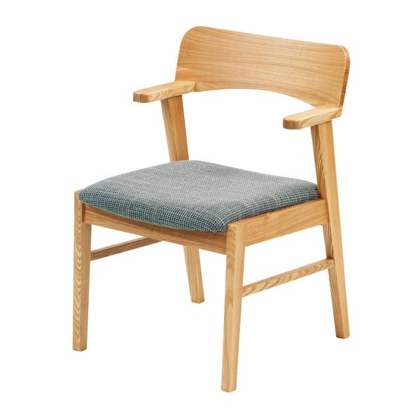 ラパン ダイニングチェアー ナチュラル 肘付椅子 天然木 120cm幅 無垢 ダイニングチェア 木製 椅子 北欧 カントリー ナチュラル モリモク
