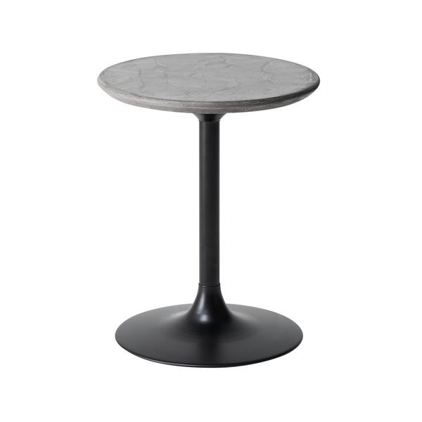 LETL-009BM68 40cm幅 サイドテーブル/L(ロータイプ) スリムテーブル フラワーテーブル 円形 丸形 モダン MKマエダ モールテックス 【送料無料】