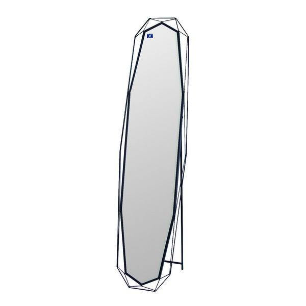 GEMシルエット BK シルエット スタンドミラー 姿見 立ち鏡 一人暮らし ちょっと見 身だしなみ 確認 スリム コンパクト日本製 塩川光明堂 【送料無料】