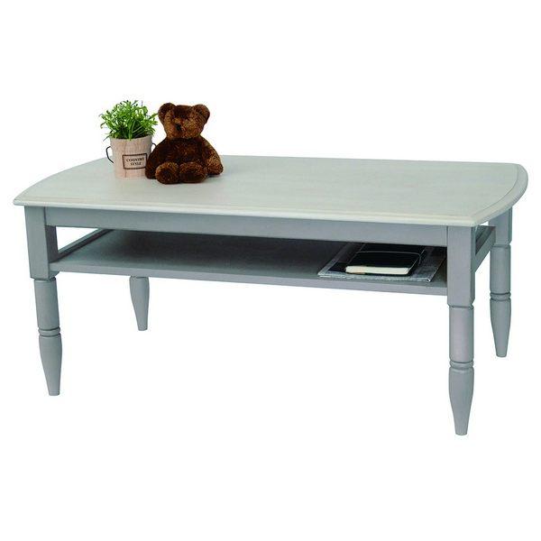 BE-007 ローテーブル Belle 90cm幅 センターテーブル リビングテーブル ソファーテーブル 棚付き 塩川光明堂 【送料無料】