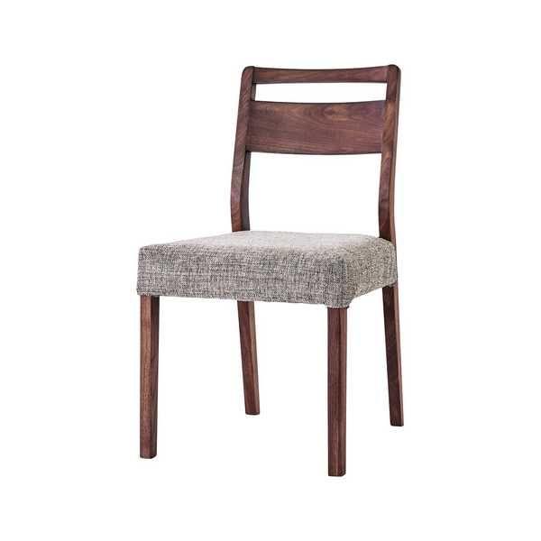 O1201 ミーツ ダイニングチェアー DC WBR meets 食堂イス いす 椅子 木製 布張り ファブリック カバーリング ウォールナット無垢 吉桂 【送料無料】