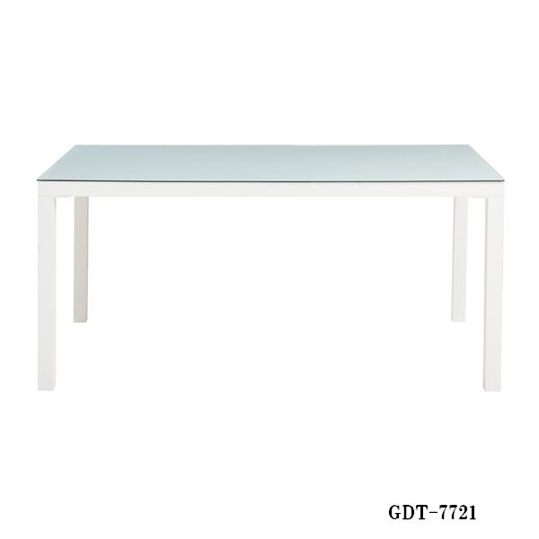 GDT-7721 GDT-7726 GDT-7729 ダイニングテーブル ホワイト ナチュラル ブラック アルガノ ARGANO 120cm幅 食堂 食卓 テーブル 洋風 4人用 シンプル モダン ガラストップ あずま工芸 【送料無料】