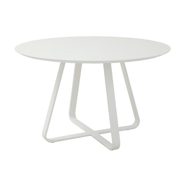 TDT-1891 ダイニングテーブル ホワイト クロップ CROP 120cm幅 食堂 食卓 テーブル 洋風 4人用 シンプル モダン 円形 丸形 あずま工芸 【送料無料】