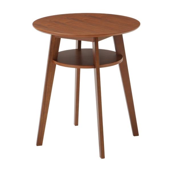 SST-990 カフェテーブル ブラウン ディオーネ DIONE 60cm幅 コーヒー ソファー テーブル コンパクト 円形 丸型 こぶり 小型 2人用 あずま工芸 【送料無料】