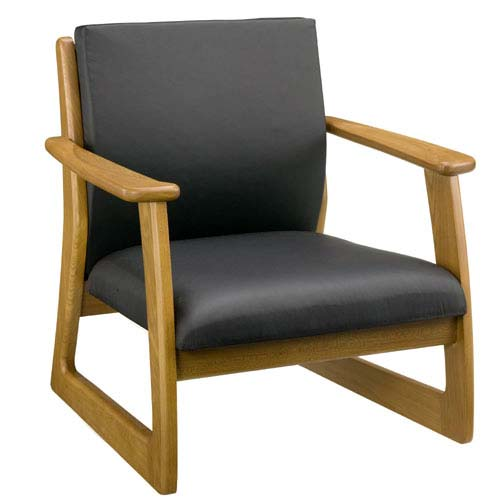 ラルゴ7672 チェアー いす イス 安楽椅子 低め リラックス いす イス 椅子 チェア 木製 シンプル レザー 合皮張り アケボノ工芸 曙工芸 LARGO 【送料無料】