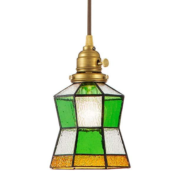 AW-0372V ART WORK STUDIO アートワークスタジオ ステンドグラスペンダント「ヘルム」 Stained glass-pendant Helm 4.5畳以下 白熱球【送料無料】