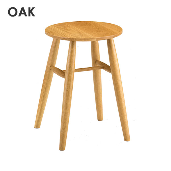 7517 NA 8517 BR スツール 小椅子 小イス 簡易いす ナチュラル ブラウン 天然木 腰掛け オーク アケボノ工芸 OAK 曙工芸 stool チェアー 背もたれ無し 丸イス シンプル 【送料無料】