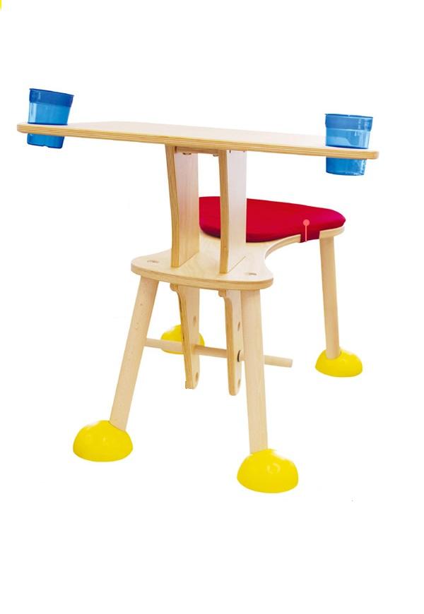 clexo クレッソ ヒロ・コーポレーション テーブルにイスが一体化 木馬 Timkid ティムキッド社 ドイツ製 【送料無料】
