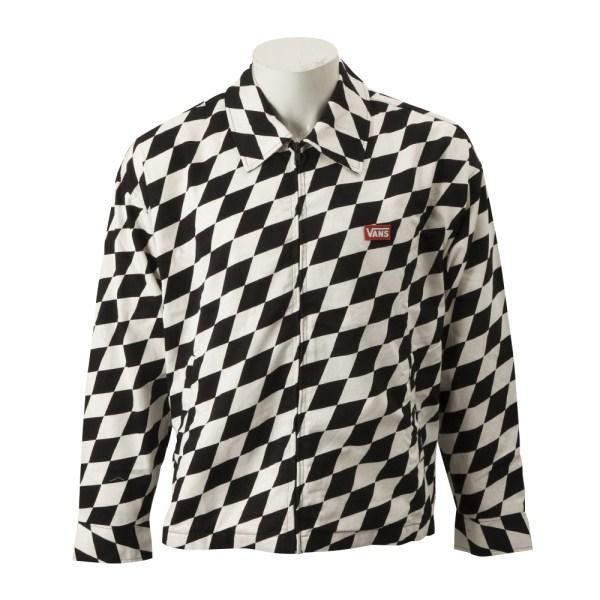 【VANSウェア】VANS Swing Top Jacket ヴァンズ スイングトップジャケット VA19SS-MJ02 19SP CHECKERBOARD