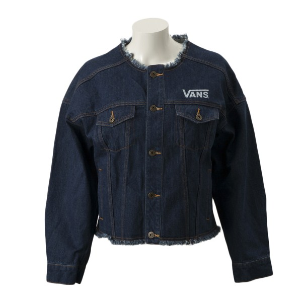 【VANSウェア】Denim Girls No Colar Jacket ヴァンズ ジャケット VA19SS-GJ02 19SP INDIGO