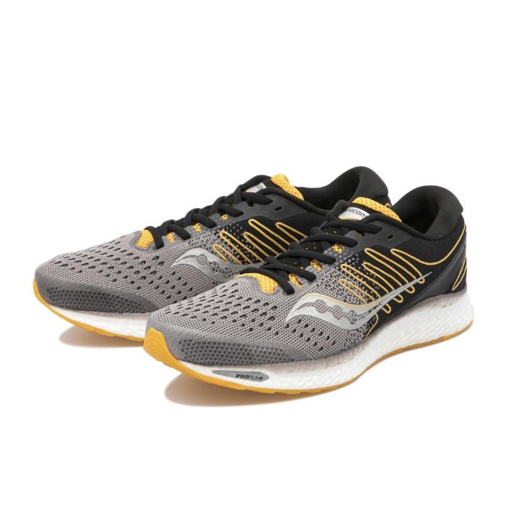 ランニングシューズ 最安値挑戦 ジョギング 25%OFF マラソン トレーニング 送料無料 Saucony サッカニー BLACK 3 YELLOW S20543-45 フリーダム FREEDOM