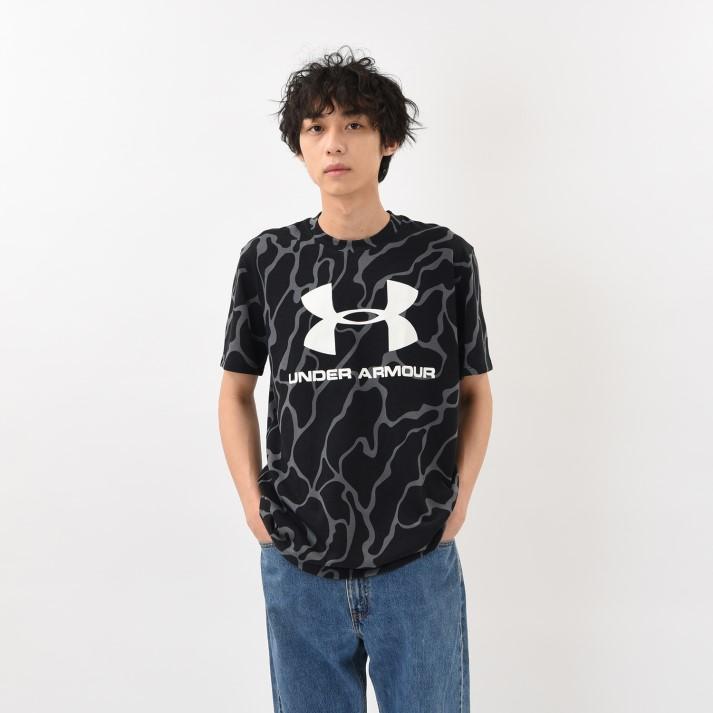 買取 Tシャツ タンクトップ UNDER ARMOURウェア アンダーアーマー M UA SPORT スポーツロゴショートスリーブ OXW SS LOGO B 爆買いセール PRINTED 1351629 001