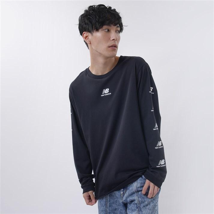 長袖トップス NEW BALANCEウェア 大決算セール ニューバランス 激安卸販売新品 AMT03522BK CITYロングスリーブTシャツ BK ウェア