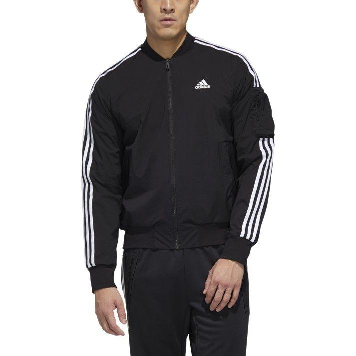 ジャケット アウター 送料無料 adidas ウェア アディダス M JKT WHT BLK GH4802 人気ブランド MH BOMB ストア 3S