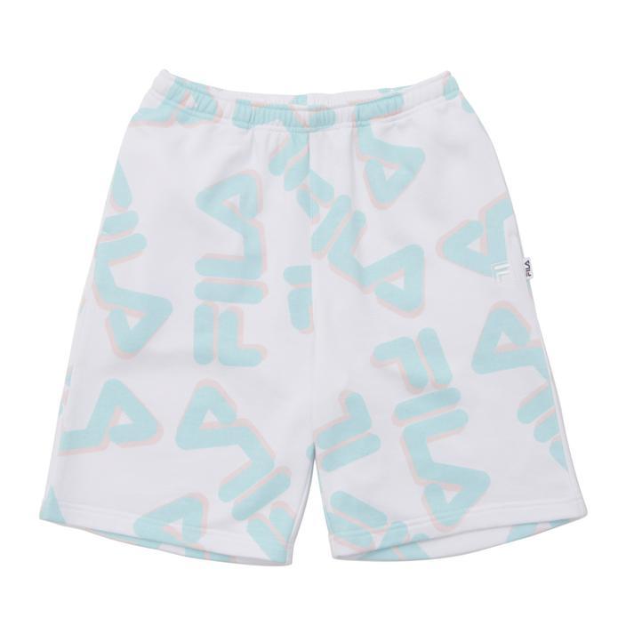 ショートパンツ ハーフパンツ FILA フィラ U shorts ホワイト pattern 日本正規代理店品 FM5645 Total 年末年始大決算