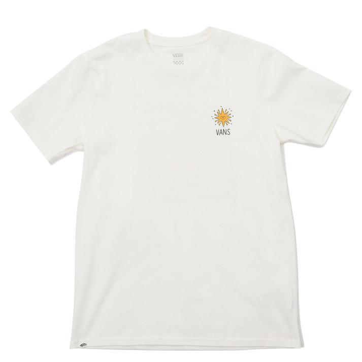 Tシャツ おしゃれ タンクトップ VANS おすすめ特集 ヴァンズ W MOONCASKET VN0A5H4SFS8 MARSHMALLOW ショートスリーブ 21-A TEE SS