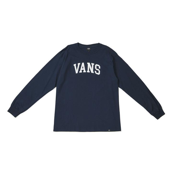 長袖トップス 送料無料 今季も再入荷 VANS ヴァンズ M Arch Logo T-Shirt S 121K1020900 NAVY モデル着用&注目アイテム L ロングスリーブ