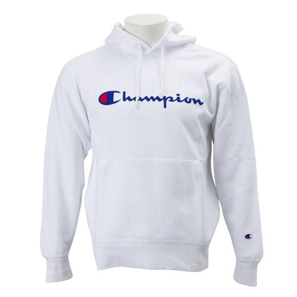 贈答品 カジュアルファッション パーカー 送料無料 CHAMPION C3-J117Z ロゴプルオーバーパーカー2 ホワイト 予約 チャンピオン