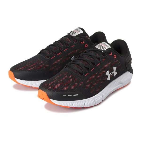 【UNDER ARMOUR】 アンダーアーマー M UA Charged Rogue 4E チャージドローグ 4E 3022190 002BLK/OGG/MSV