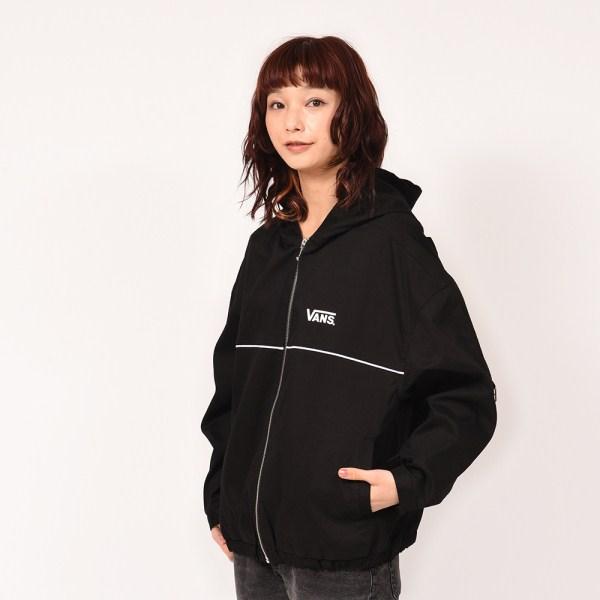 【VANSウェア】Big Logo Girls Hoodie Jacket ヴァンズ ジャケット VA19SS-GJ01 19SP BLACK