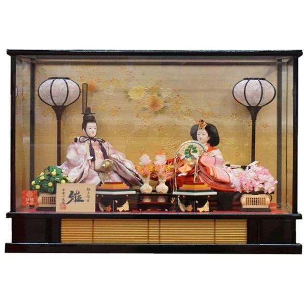 ひな人形 ガラスケース入り 親王飾り 竹干筋・彩桜 【送料無料】【最短即日出荷】【購入特典あり】