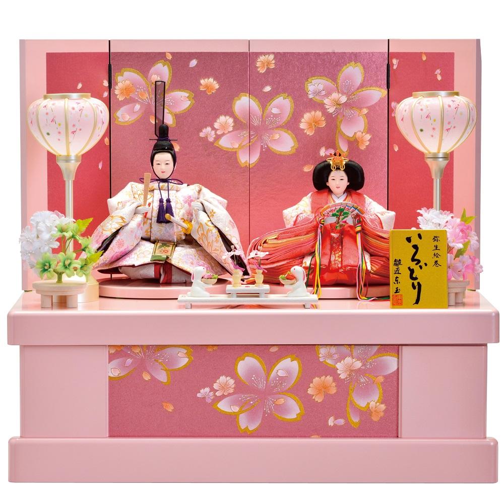 【送料無料】【最短即日出荷】【購入特典あり】【東玉】ひな人形 収納飾り 親王飾り もえか ポエム桜