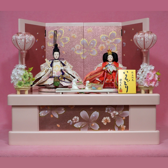 【東玉】ひな人形 収納飾り 親王飾り もえか ポエム桜【送料無料】【最短即日出荷】【購入特典あり】