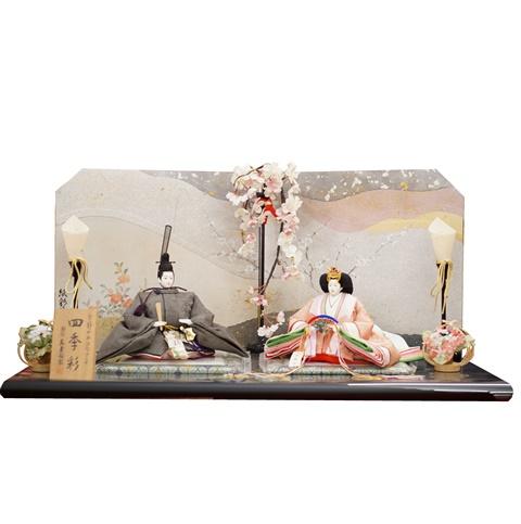 雛匠 【東玉】 ひな人形 雛人形 平飾り【ひな人形 親王飾り】【四季彩】 32783 日本の伝統工芸 継紙 巾80cm