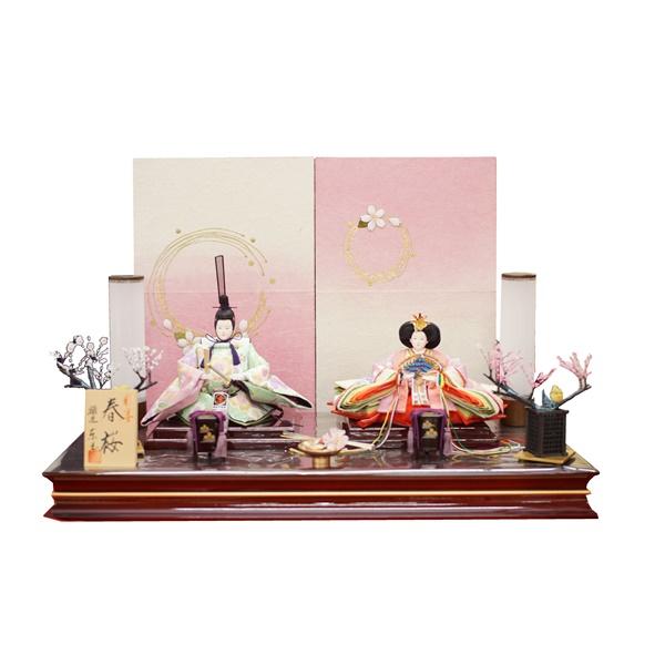 雛匠 【東玉】 ひな人形 雛人形 平飾り【ひな人形 親王飾り】【彩宴】63436 日本の伝統工芸 巾65cm