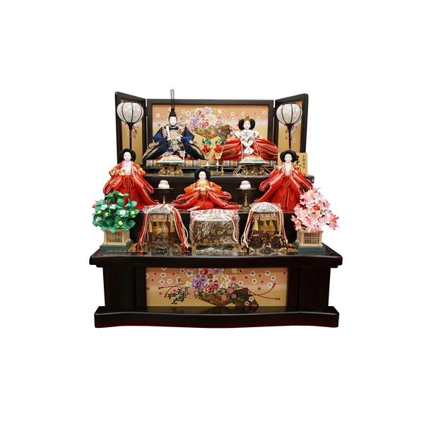 雛匠 東玉 ひな人形 雛人形 3段飾り【春雛】牡丹刺繍巾80cm
