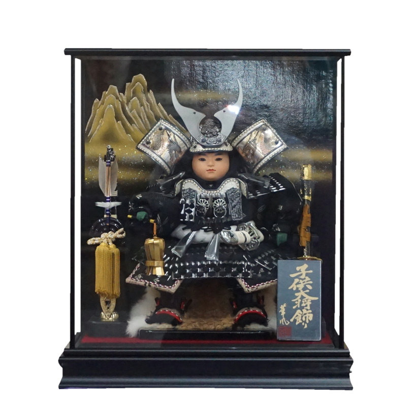 5月人形【五月人形】ケース飾り コンパクト 上杉謙信 オルゴール【送料無料】【最短即日出荷】【購入特典あり】