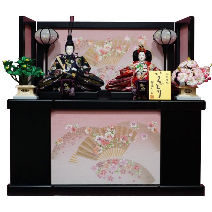 【東玉】ひな人形 収納飾り 親王飾り みやこ 扇に桜【送料無料】【最短即日出荷】【購入特典あり】