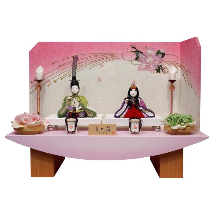 ひな人形 木目込人形 親王飾り 月の宴【送料無料】【最短即日出荷】【購入特典あり】