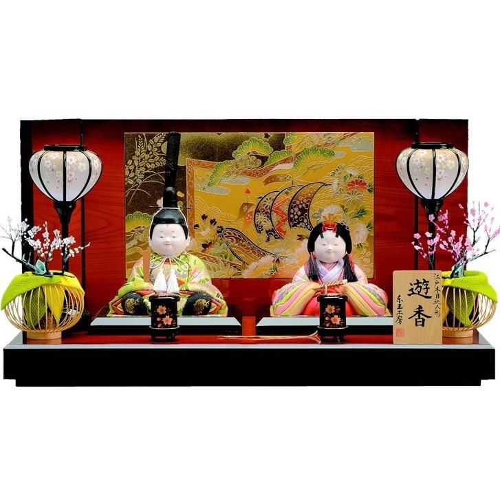 【東玉】ひな人形 木目込人形ゆかり 親王飾り間口60cm 麗香 47953【送料無料】【購入特典あり】