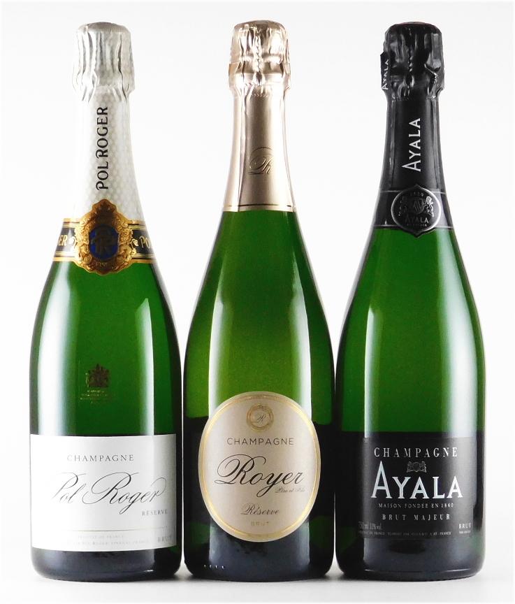 特選シャンパーニュ 750ml 3本セット 発泡 【発泡】【白ワイン】【辛口】【シャンパン セット】