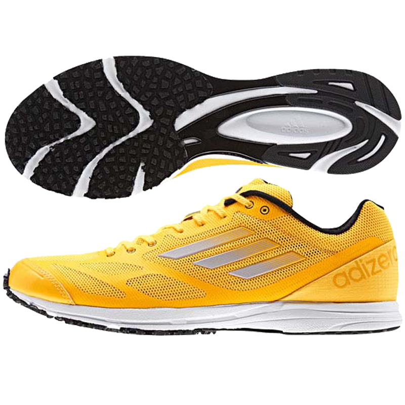 adizero Feather RK2 running shoes /adidas / training shoes (m25642) solar gold and core white/core black