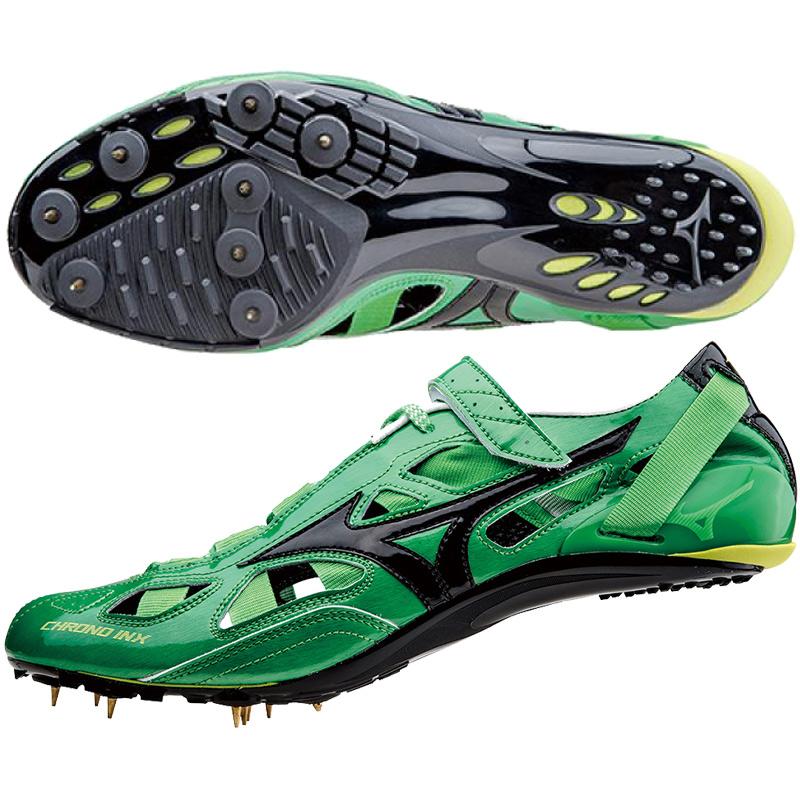 CHRONO INX 9 스파이크/미즈노 신발/스파이크/MIZUNO (U1GA1501) 9 그린 × 블랙