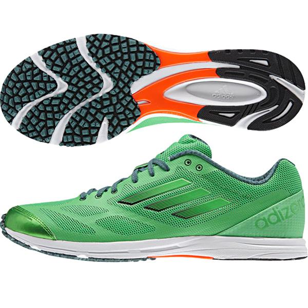 Adizero Feather RK 2 운동 화/아디다스 런 닝/adidas (B44251) 세미 플러시 그린 S15/세미 플러시 그린