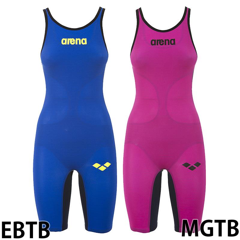 【アリーナ】 レディース ハーフスーツオープンバック POWERSKIN carbon air/レーシング水着/レディース水着/arena (FAR-6504W)