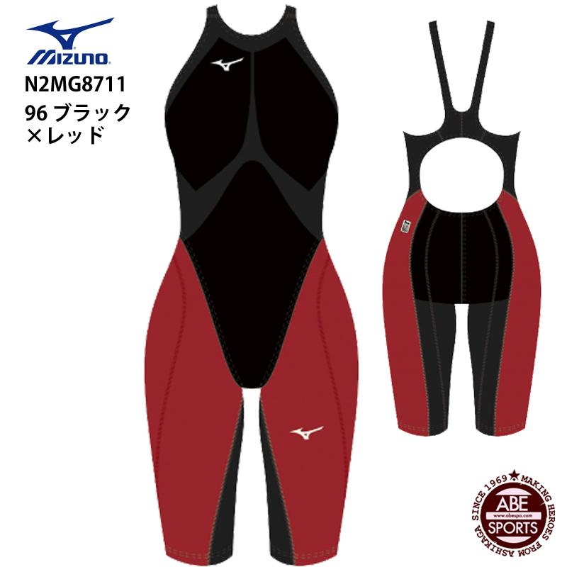 【ミズノ】MX・SONIC G3 ハーフスーツ 競泳水着/高速水着 ウィメンズ/G3/ハイグレードモデル/MIZUNO (N2MG8711)96 ブラック×レッド