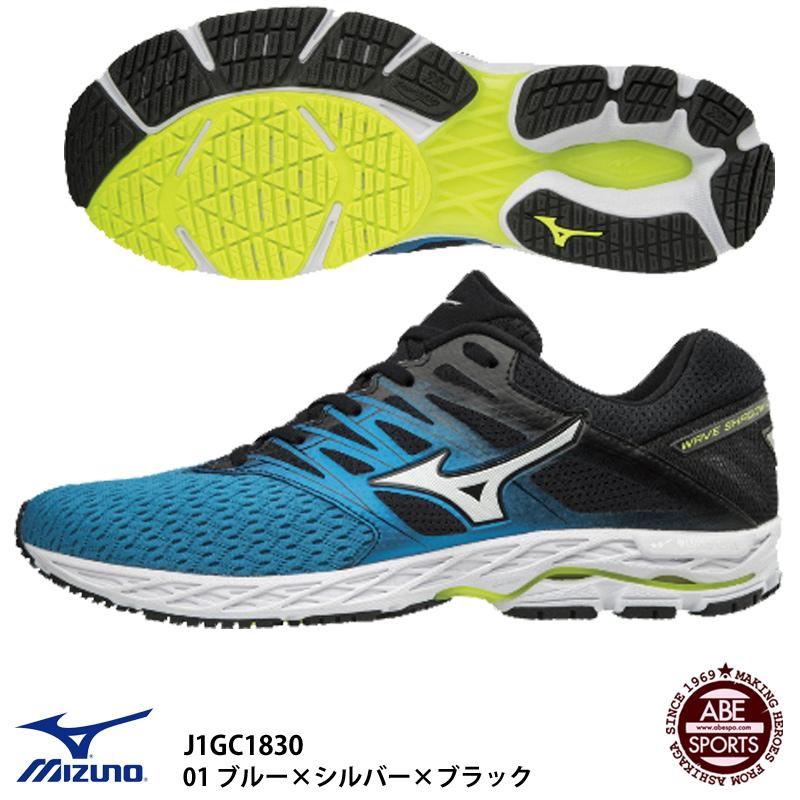 【ミズノ】WAVE SHADOW 2 ウェーブシャドウ/ランニングシューズ/マラソンシューズ/MIZUNO(J1GC1830) 01 ブルー×シルバー×ブラック