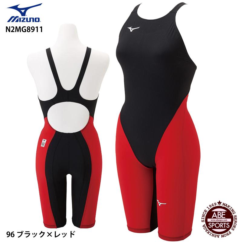 【ミズノ】 G3 競泳水着/ ブラック×レッド ジュニア女子/ (N2MG8911) 水着 MX・SONIC MIZUNO ハーフスーツ 96 ミズノ/ 高速水着/