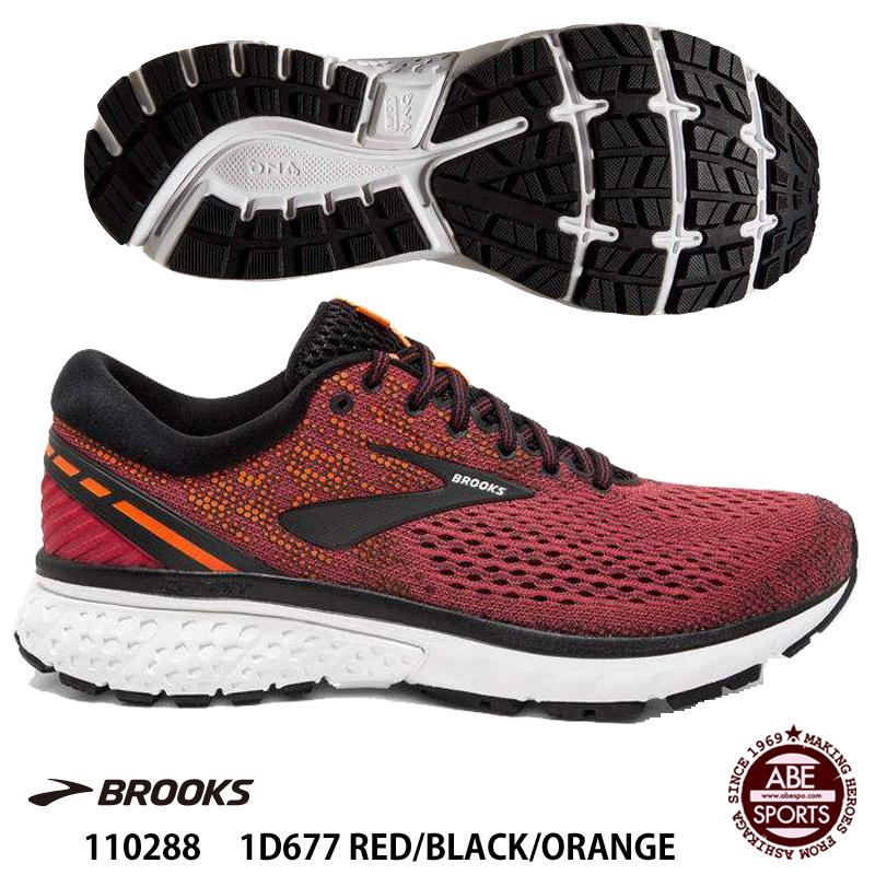 【BROOKS】GHOST11 レギュラーラスト ゴースト11/ランニングシューズ/ブルックス (110288) 1D677 RED/BLACK/ORANGE