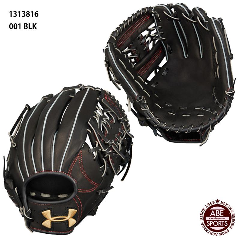 【アンダーアーマー】ベースボール軟式グラブ ベースボール/軟式グローブ/右投げ内野手用/MEN/UNDERARMOUR(1313816) 001 Black/Gold
