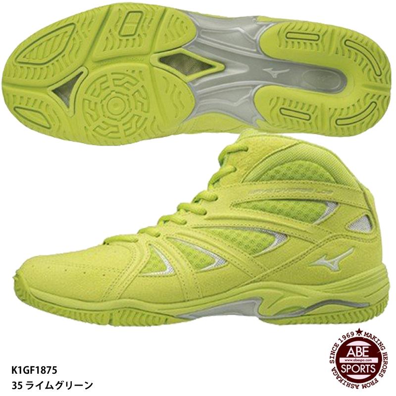 【ミズノ】WAVE DIVERSE LG 3Ltd ウェーブダイバース LG 3 リミテッド フィットネスシューズ/限定カラー(K1GF1875) 35 ライムグリーン