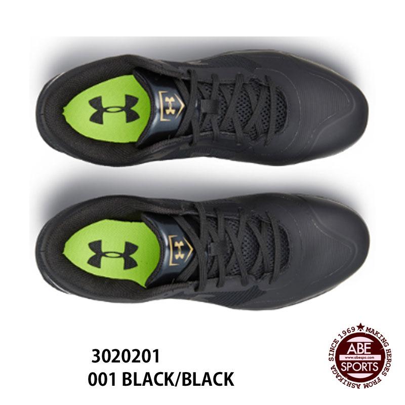 【アンダーアーマー】 UA Heater Low ST Wide 野球スパイク/BASEBALL/UNDER ARMOUR (3020201) 001 BLACK/BLACK