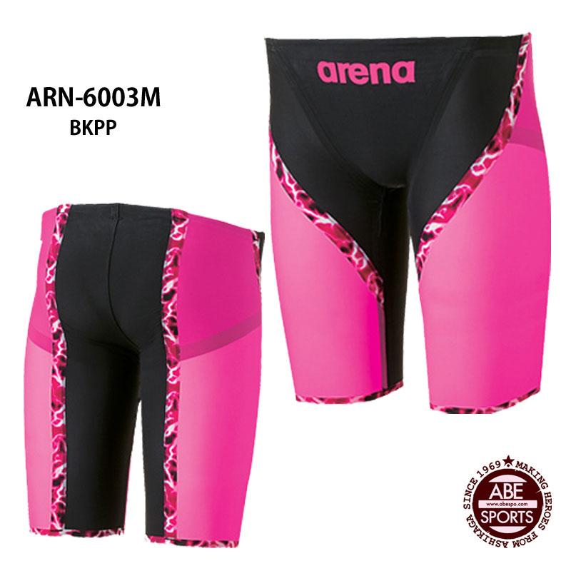 【アリーナ】AQUAFORCE LIGHTNING ハーフスパッツ フラットクロスバック/フレックスタイプ メンズ競泳水着/アクアフォース/ライトニング/アリーナ/競泳水着/トップモデル/FINA/返品・交換不可 (ARN-6003M)BKPP